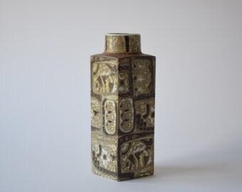 Rare & X-large! Royal Copenhagen - tall vase - fish motif - 719/3475 - Nils Thorsson - Danish mid century lighting