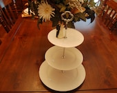 Wedding White Tea Stand/Cake Stand/Dessert Tray,  Wedding Reception Table, Christmas Decor very versatile, Centerpiece(P330)