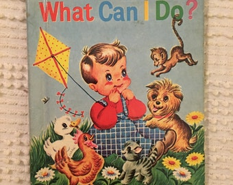 Vintage What Can I Do? Junior Elf Book 1950's