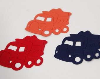 Die Cut Trucks for Scrapbooking, Truck Confetti, Birthday Party Decor, DIY Cupcake Toppers, Classroom Crafts, Vehicle Shapes, Boy Birthday