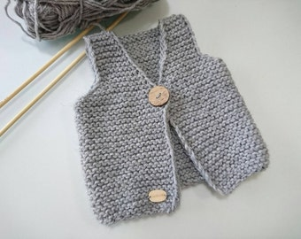 Newborn vest, baby boy coming home outfit, baby knit vest, baby vest, baby shower gift, newborn gift, handmade gift