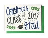 Graduation Card - Class of 2017 Ivy - Congrats Grad - Grad Card - Greeting Card - Hennel Paper Co. - GR6