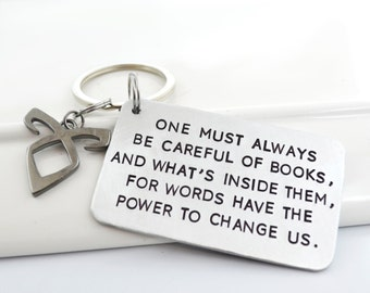 Book Quote Keychain Inspired by The Infernal Devices Series | Cassandra Clare Quote