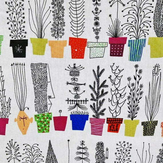 Scandinavian Modern Fabric by Olle Eksell Italian Blooms By the Yard
