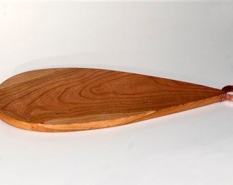 Cherry Cutting Board - Serving Board - Cherry Serving Board - Bread Board - Teardrop Shaped Serving Board with Copper Hoop