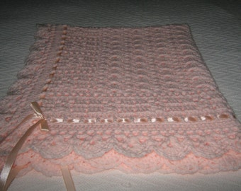 "New Hand Crochet ""Sweet Dreams"" Baby Shawl / Blanket"