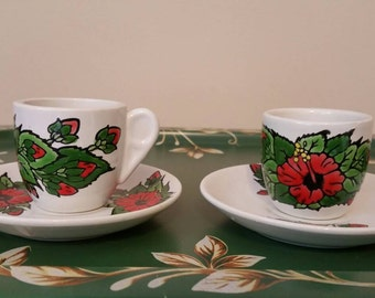 Strawberry demitasse etsy for Alpine cuisine fine porcelain