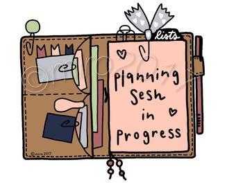 Planning Sesh In Progress TN Printable