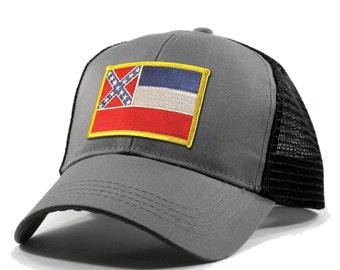 Homeland Tees Mississippi Flag Hat - Trucker