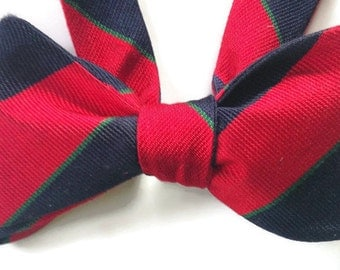 Silk Bow Tie for Men - Campus - One-of-a-Kind - Handtailored - Self-tie -Free Shipping