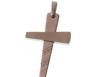 Stainless Steel Cross/ Pendant/ Cubic Zirconia/ Religious/ Cross