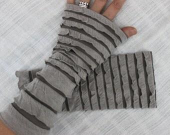 Cream gloves, Beige handmade gloves, beige fingerless gloves, beige arm warmers, layered gloves, unique gloves, Christmas gifts