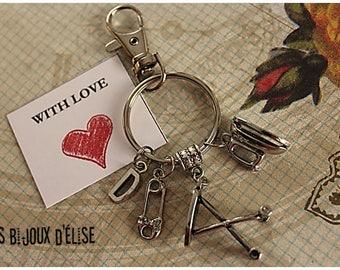 seamstress Keychain Dressmaker Personalized Motivational Keychain