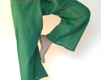 TCZ0051 Thai Fishermsn Pants Wide Leg pants, Wrap pants, Unisex pants, Thai Fisherman Pants, TC Fabric