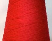 Coned Weaving Yarn, 20/2 Cotton, Fine Yarn, Crimson
