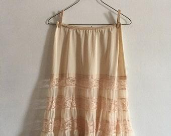 Lace Panel Skirt