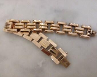 Vintage 1950's 14k solid yellow gold bracelet, 30.9 grams 20 CM LONG