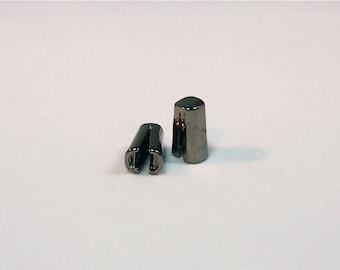 Gunmetal Plated Terminator Ends - 1 pair