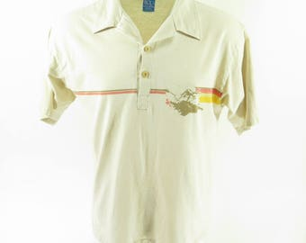 Vintage 70s Ocean Pacific Surf Skate Shirt Mens L OP Board Stripe [H74F_0-10]