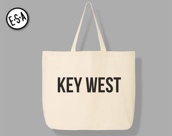 KEY WEST. Reusable Grocery Tote.