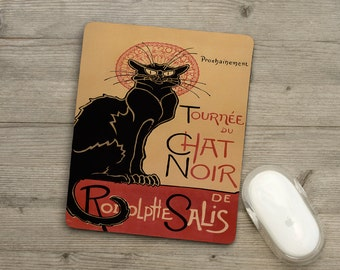 Mousemat - Pad - Chat Noir - Poster - French