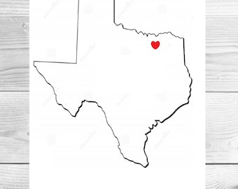 Home State Heart Printable Artwork-Customizable