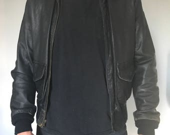 Super Supple Schott Bros Leather Flight Jacket Size 40 Brando Motorcycle Jacket Perfect Leather Easy Rider