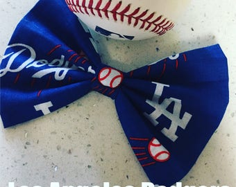 Los Angeles Dodgers Baseball Bow & Bow Tie