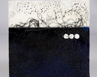 Original Blue and White Abstract Landscape Painting