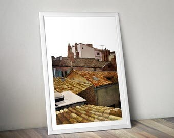 Toulouse Rooftops A4 Print