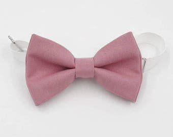 Rosy Mauve Bow-tie -  Adjustable neck-strap - Dusty rose bow tie