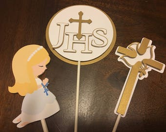 Girl First Communion Centerpieces