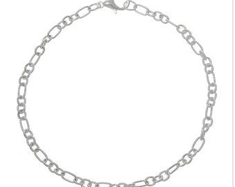 12 pcs Silver Link Bracelets, Bracelets for Charms,  Charm bracelets wholesale, Ships next day USA