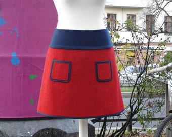 Walking rock winter rock wool rock winter skirt wool red blue