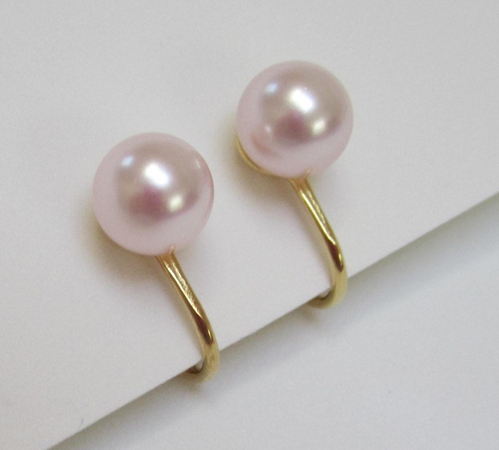 pink pearl clip on earrings rosaline swarovski elements pearl. Black Bedroom Furniture Sets. Home Design Ideas