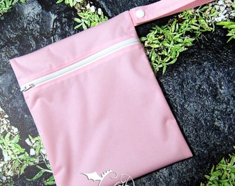 X-Small Wetbag Pastel Pink PUL with White Zipper