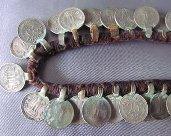 Vintage Ethnic Necklace, Indian Necklace, Necklace of coins