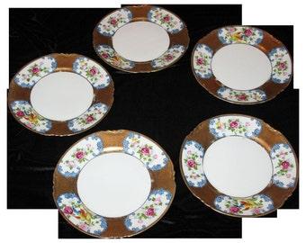 5 Noritake cake plates