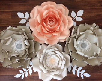 Ready to ship! Giant paper flower 4pc set