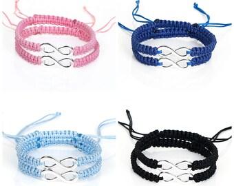 Friendship Bracelet Set, Infinity Bracelet, Couples Bracelets, Friendship Gift, Gift For BFF, Gift For Friend, Gift For Him, Gift For Her