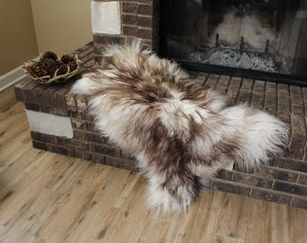 Genuine Icelandic Sheepskin Rug Throw – shade of brown