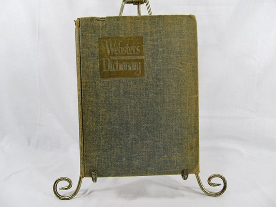 Webster's Giant Illustrated Approved Dictionary 1949 World Publishing Company Antique Book