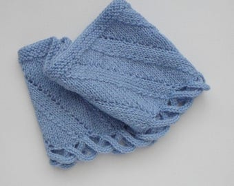 Pale Blue Cowl Neckwarmer Winter Accessories Gift Idea Ready to Ship