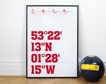 Sheffield United Football Stadium Coordinates Posters