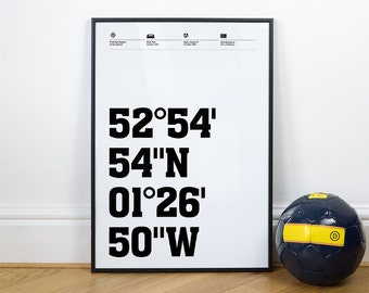 Derby County Football Stadium Coordinates Posters