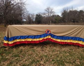 County fair themed ruffled tablecloth