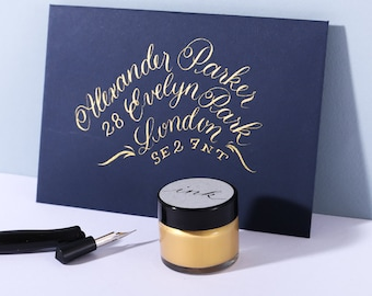 Gold Calligraphy  Ink