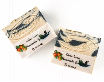 Cider Loon Soap, Hard Cider Soap, Apple Soap, Minnesota Soap, Minnesota Gift, Apple Scented Soap, Loon Gift, Honeycrisp Apple, Unique Soap