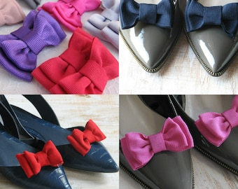 Red shoe clips Purple shoe clips Mauve shoe clips Black shoe clips Navy shoe clips Coral Grey shoe clips Christmas gift Gift idea for her