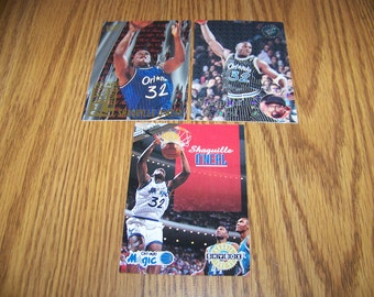 3 Shaquille O'neal (Orlando Magic) Basketball Cards